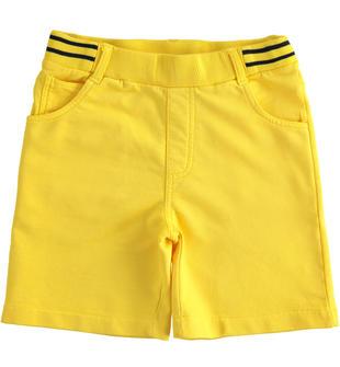 Morbido e comodo pantalone corto in felpa 100% cotone sarabanda GIALLO-1446