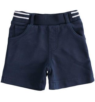 Morbido e comodo pantalone corto in felpa 100% cotone sarabanda NAVY-3854