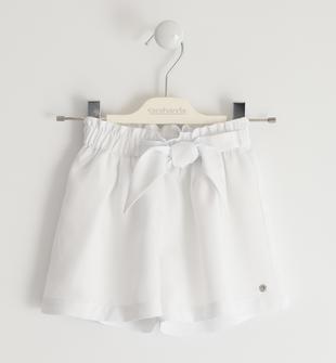 Shorts con vestibilità a bermuda sarabanda BIANCO-0113