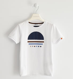 T-shirt in jersey stretch per look casual sarabanda BIANCO-0113