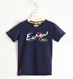 T-shirt 100% cotone effetto vintage sarabanda NAVY-3854
