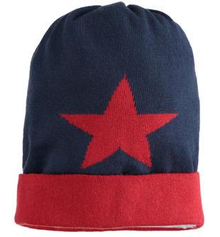 Cappello modello cuffia con stelle sarabanda NAVY-3885