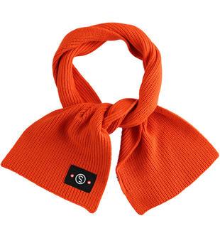 Sciarpa in maglia a coste sarabanda ARANCIO-1828