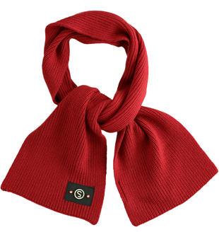 Sciarpa in maglia a coste sarabanda ROSSO-2536