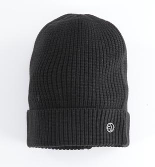 Cappello modello cuffia in tricot a costina sarabanda NERO-0658