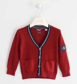 Cardigan in tricot sarabanda ROSSO-2536