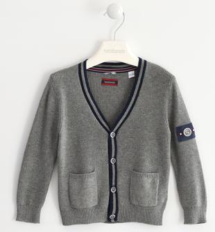 Cardigan in tricot sarabanda GRIGIO MELANGE-8970