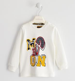 Maglietta 100% cotone stile college sarabanda PANNA-0112