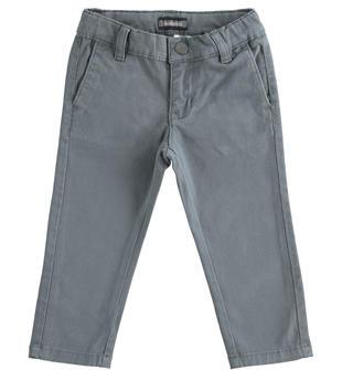 Pantalone in twill sarabanda GRIGIO SCURO-3829