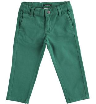 Pantalone in twill sarabanda VERDE-4554