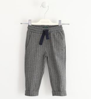 Pantalone con fantasia rigata sarabanda GRIGIO MELANGE-8993