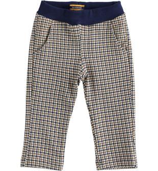 Pantalone fantasia pied de poule sarabanda PANNA-BEIGE-6LN5