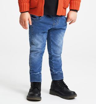 Pantalone effetto denim con coulisse sarabanda STONE WASHED CHIARO-7400