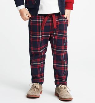 Pantalone con fantasia macro check sarabanda NAVY-3885