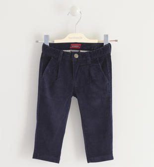 Pantalone in velluto mille righe sarabanda NAVY-3885