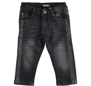 Pantalone in maglia effetto denim sarabanda NERO-7990