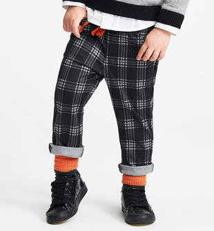 Pantalone fantasia macro check allover sarabanda NERO-0658