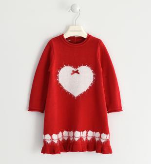 Abito in tricot con cuore sarabanda ROSSO-2253