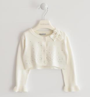 Morbidissimo tricot con strass sarabanda PANNA-0112
