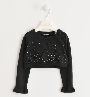 Morbidissimo tricot con strass sarabanda NERO-0658