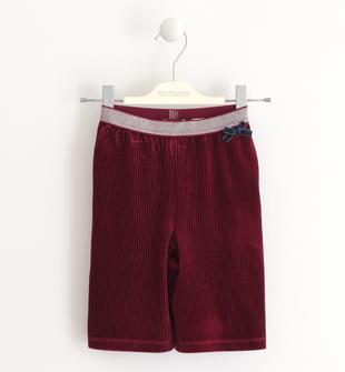 Pantalone modello crop in ciniglia sarabanda BORDEAUX-2537