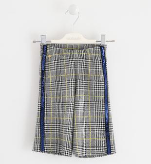 Pantalone crop fantasia principe di galles sarabanda NAVY-3885