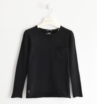 Maglia in tricot con taschino sarabanda NERO-0658
