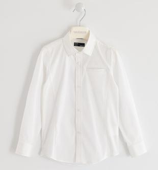 Classica camicia in popeline sarabanda BIANCO-0113