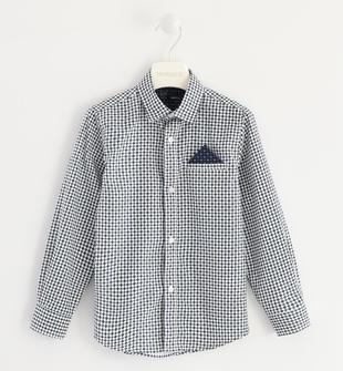 Camicia 100% cotone fantasia geometrica sarabanda BIANCO-0113