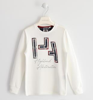 Maglietta 100% cotone con stampa termo saldata sarabanda PANNA-0112
