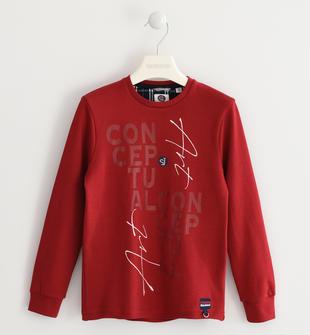 Maglietta in interlock 100% cotone sarabanda ROSSO-2536