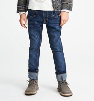 Pantalone denim slim fit con rotture sarabanda BLU-7750