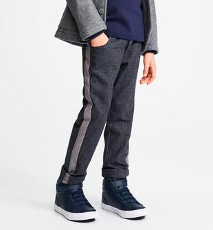 Pantalone fantasia micro pied-de-poule o macro check sarabanda NAVY-3854