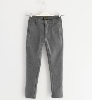 Pantalone in felpa garzata sarabanda GRIGIO MELANGE SCURO-8994
