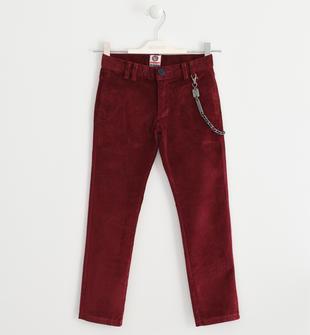 Pantalone in velluto a coste sarabanda BORDEAUX-2537