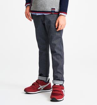 Elegante pantalone tessuto spigato sarabanda NAVY-3885