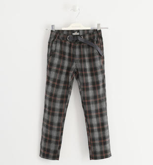 Pantalone fantasia check sarabanda NERO-0658