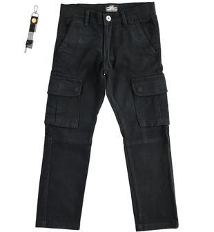 Pantalone modello cargo in twill stretch sarabanda NERO-0658
