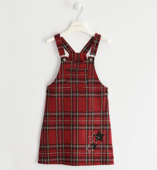 Salopette ad abito con micro borchie sarabanda ROSSO-2251