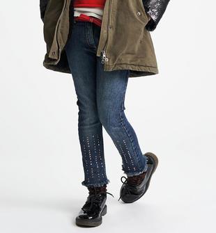 Pantalone denim con borchie sarabanda SOVRATINTO BEIGE-7180