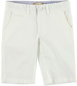 Pantalone corto in twill stretch sarabanda BIANCO - 0113