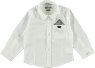 Camicia bianca di cotone con fazzoletto sarabanda BIANCO - 0113