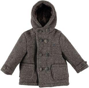 Cappotto doppio petto con cappuccio  sarabanda MARRONE MELANGE - 8910