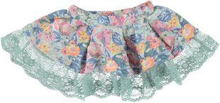 Minigonna in felpa stretch stampata a fiori sarabanda ALLOVER FIORI - 6B43