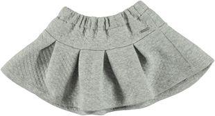 Minigonna grigia melange in morbido jersey trapuntato sarabanda GRIGIO MELANGE - 8992