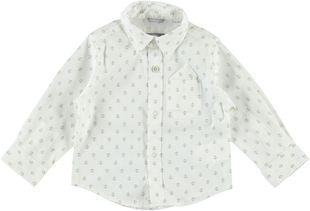 Camicia a manica lunga in popeline misto cotone  PANNA-BEIGE-6F30