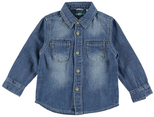 Camicia in denim 100% cotone con sabbiature  STONE BLEACH - 7350