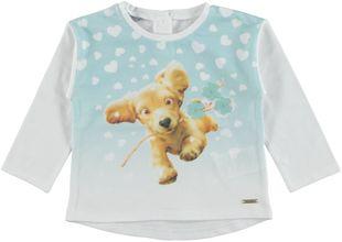 Maglietta in cotone con tenerissima stampa di cagnolino  BIANCO - 0113