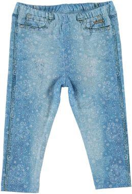 Originale pantalone lungo stampato con motivo di stelle  BIANCO-INDIGO - 6F58