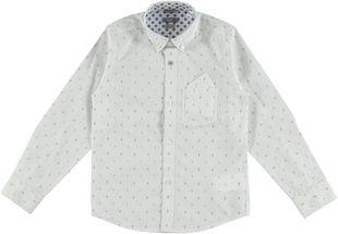 Camicia classica 100% cotone tessuto jacquard sarabanda BIANCO - 0113